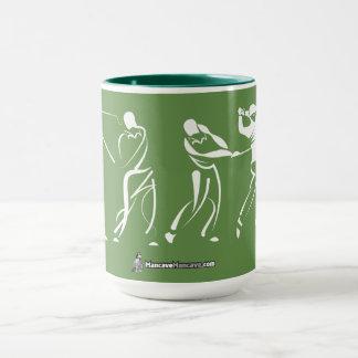 Taza de café del oscilación del golf