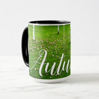 Taza de café del otoño