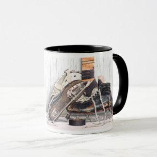 Taza de café del palillo de la máscara de los