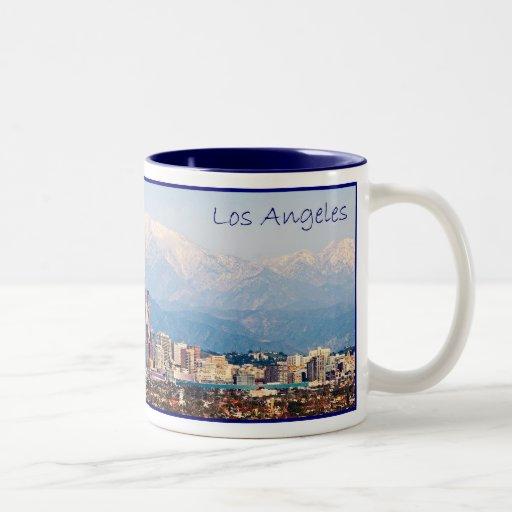 Taza de café del panorama de Los Ángeles