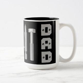 Taza de café del papá del carpintero del mecánico