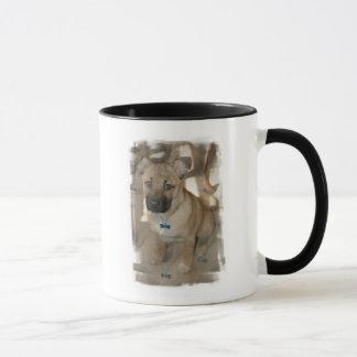 Taza de café del perrito de Akita