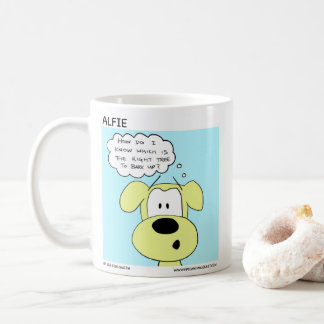 Taza de café del perro de Alfie