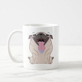 Taza de café del perro del barro amasado del