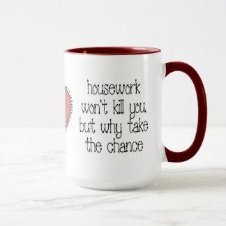 Taza de café del quehacer doméstico
