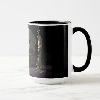 Taza de café del reloj de arena de la mortalidad