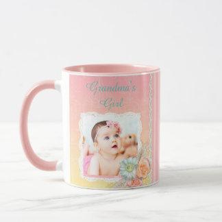 "Taza de café del rosa del chica ""de la abuela"
