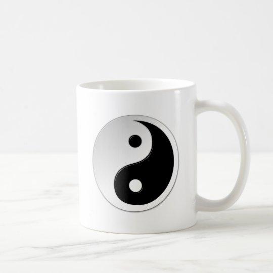 Taza de café del símbolo de Yin Yang