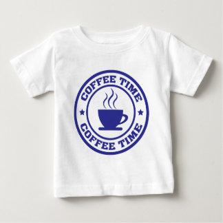 taza de café del tiempo del café camiseta