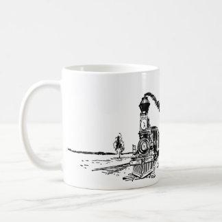 Taza de café del tren del vintage