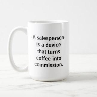 Taza de café del vendedor