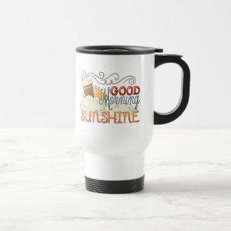 Taza de café del viaje de la sol de la buena