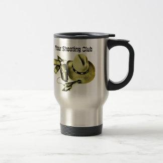 Taza de café del viaje del engranaje del tiroteo