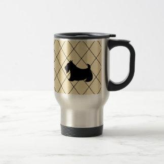 Taza de café del viaje del perro de Terrier Scotty