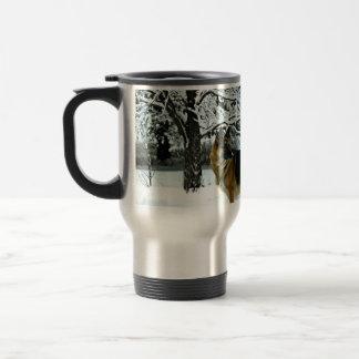 Taza de café del viajero del pastor alemán