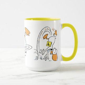Taza de café del vuelo del pato del tilín