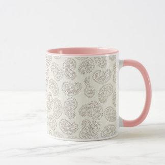 Taza de café delicada del diseño de Paisley