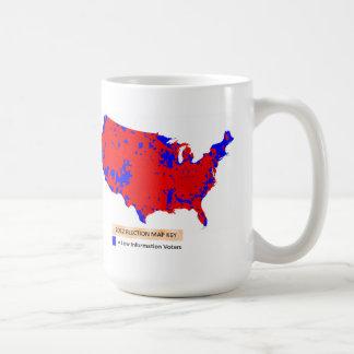 Taza De Café Demócratas son votantes bajos de la información