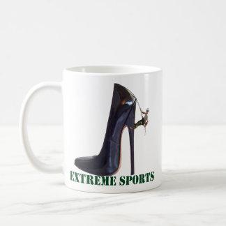 Taza De Café Deportes extremos divertidos - el subir del zapato