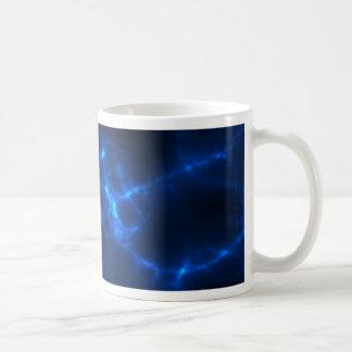 Taza De Café Descarga eléctrica en azul marino