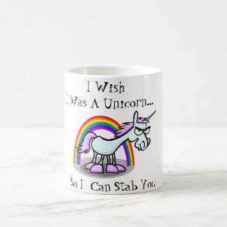 Taza De Café Deseo que fuera un unicornio así que puedo