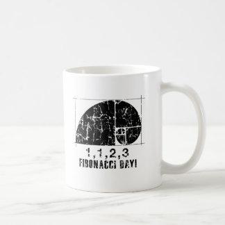 Taza De Café Día de Fibonacci, 1,1,2,3, noviembre, 23