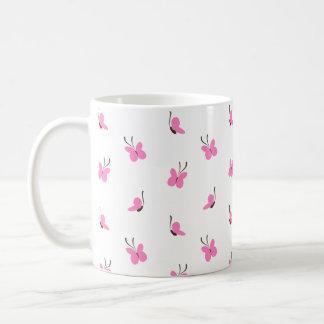 Taza De Café ¡Día de lúpulo! Conejito y mariposas