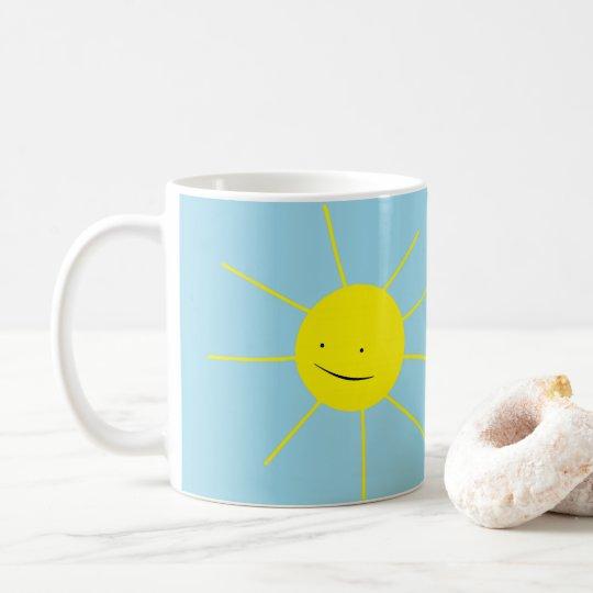 Taza De Café Día feliz sonriente de Sun de la buena mañana