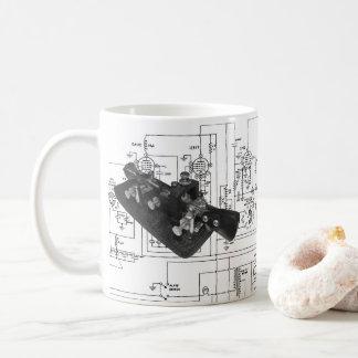 Taza De Café Diagrama esquemático dominante de radio del código