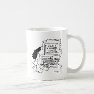 Taza De Café Dibujo animado 4369 del ordenador
