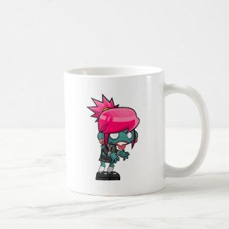 Taza De Café Dibujo animado del chica del zombi