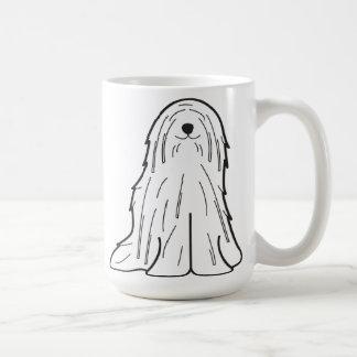 Taza De Café Dibujo animado del perro de Komondor