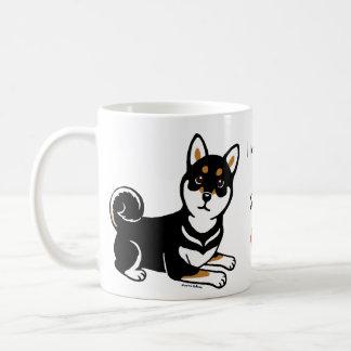 Taza De Café Dibujo animado del perro de Kuro Shiba Inu
