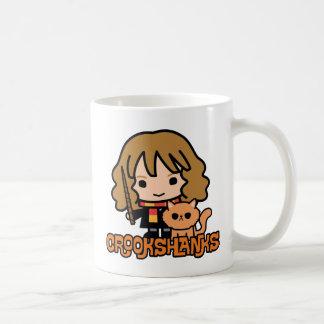 Taza De Café Dibujo animado Hermione y Crookshanks