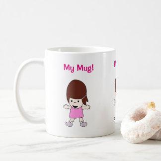 "Taza De Café Dibujo animado Lesley ""mi taza!"" Diseño"