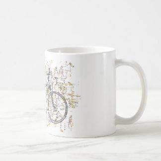 Taza De Café Dibujo colorido de la bici