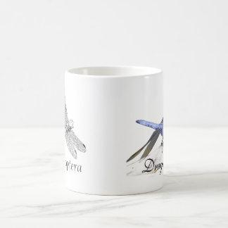 Taza De Café Dibujo de la libélula de Anisoptera