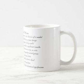 Taza De Café Diez mandamientos de la inferencia
