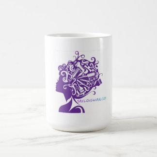 Taza De Café Diga el amor para el pelo