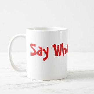 """Taza De Café """"Diga lo que"""" los emojis"""