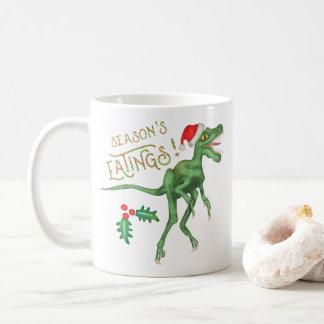 Taza De Café Dinosaurio divertido Eatings del Velociraptor del