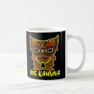 Taza De Café Dios grande negro de Kahuna Tiki