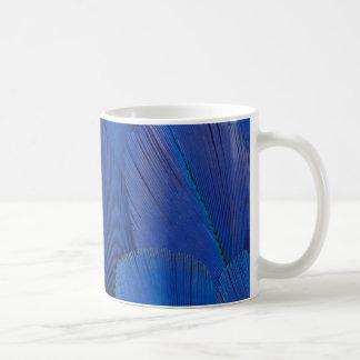 Taza De Café Diseño azul de la pluma del Macaw del jacinto