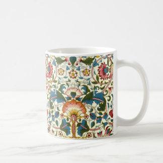 Taza De Café Diseño botánico de Morris del vintage