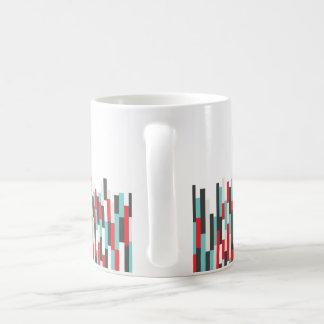 Taza De Café Diseño colorido de las rayas de los SS para la