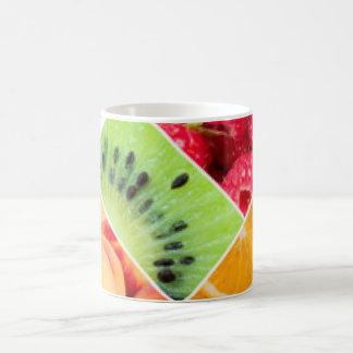 Taza De Café Diseño colorido del modelo del collage de la fruta