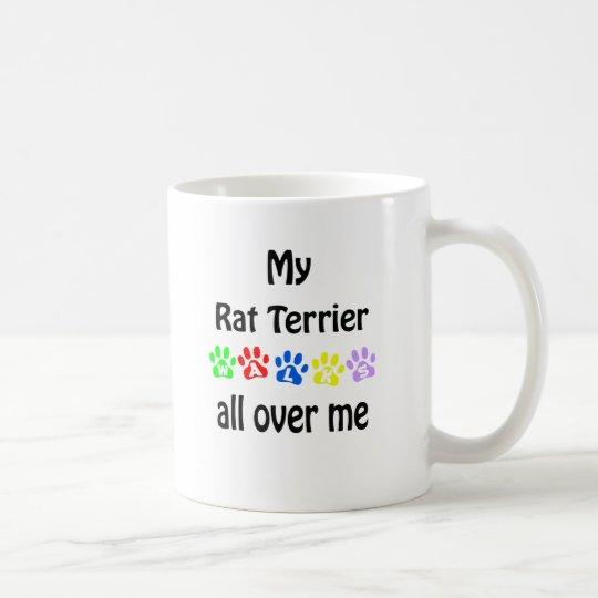 Taza De Café Diseño de los paseos de Terrier de rata