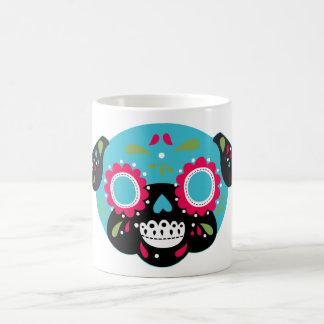 Taza De Café Diseño del cráneo del azúcar del barro amasado de