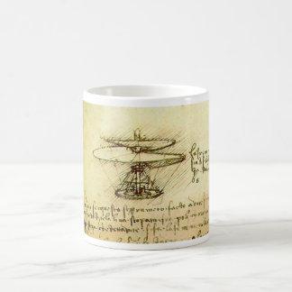 Taza De Café Diseño del helicóptero de Davinci