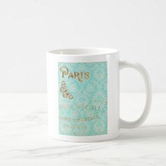 Taza De Café Diseño del oro de París del vintage
